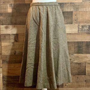 Vintage Ralph Lauren Brown Tweed 100% Wool Skirt